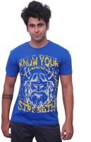 Unisopent Designs Printed Men's Round Neck Blue T-Shirt