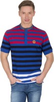 Wilkins & Tuscany Striped Men Henley Red T-Shirt
