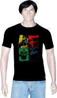 Tshirt.in Graphic Print Mens Round Neck Black T-Shirt