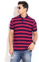 Nautica Striped Men's Polo Neck Dark Blue, Red T-Shirt
