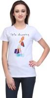 Stilestreet Printed Women's Round Neck White T-Shirt