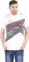 Al-Harsha Trend Printed Men's Round Neck White, Grey T-Shirt