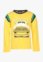 Cool Quotient Boys Solid T Shirt(Yellow, Pack of 1)