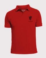 Elaborado Solid Men's Polo Neck Red T-Shirt
