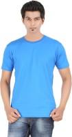 FLEXIMAA Solid Men's Round Neck Dark Blue T-Shirt