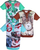 Tonyboy Boys Printed T Shirt(Multicolor)