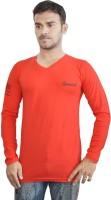Al-Harsha Trend Solid Men's V-neck Red T-Shirt