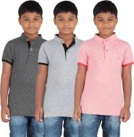 KNIT ABC Garments Boys Printed Cotton T Shirt(Pack of 3)