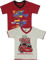 Disney Cars Boys Printed T Shirt(Pack of 2)