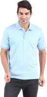 Furore Solid Mens Polo Neck Light Blue T-Shirt