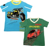 JusCubs Boys Printed Cotton T Shirt(Multicolor, Pack of 2)