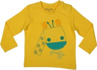 Chirpie Pie by Pantaloons Boys Applique T Shirt(Grey, Pack of 1)