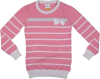 Poppers by Pantaloons Girls Striped T Shirt(Pink)