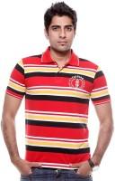 Tog Striped Mens Polo Neck Multicolor T-Shirt