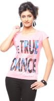Trendy Girlz Graphic Print Women's Round Neck Pink T-Shirt