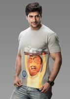 Imagica Printed Mens Round Neck Grey T-Shirt