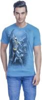 Batman Printed Men's Round Neck Blue T-Shirt