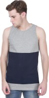 Henry and Smith Solid Men Round Neck Grey T-Shirt