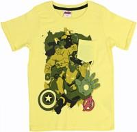 Disney Boys Printed T Shirt(Yellow, Pack of 1)