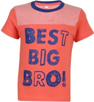 Luke and Lilly Boys Printed Cotton T Shirt(Multicolor, Pack of 1)