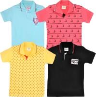 Tonyboy Boys Printed T Shirt(Multicolor, Pack of 4)