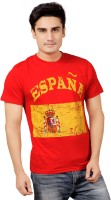 Stephen Armor Printed Men's Round Neck Red T-Shirt