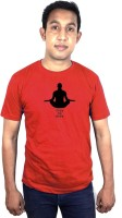 SVX Printed Mens Round Neck Red T-Shirt