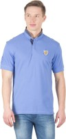 Wilkins & Tuscany Solid Men's Henley Blue T-Shirt