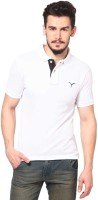 MONTEIL & MUNERO Solid Men's Polo Neck White T-Shirt