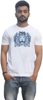 Lovely Collection Graphic Print Mens Round Neck White, Blue T-Shirt