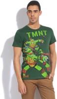 Ninja Turtle Printed Men's Round Neck Green T-Shirt