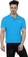 Imagica Solid Men's Round Neck Blue T-Shirt