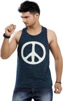 Stephen Armor Printed Men's Round Neck Dark Blue T-Shirt