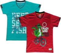 Kothari Boys Printed T Shirt(Multicolor)