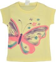 HoneyPossum Girls Printed T Shirt(Beige)