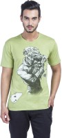 Batman Printed Mens Round Neck Green T-Shirt