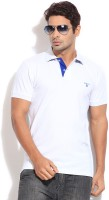 Gant Solid Mens Polo Neck White T-Shirt
