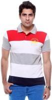 Tog Striped Men's Polo Neck Multicolor T-Shirt