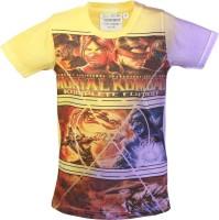 Tonyboy Boys Printed T Shirt(Yellow Pack of 1)