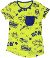 Poppers by Pantaloons Girls Printed T Shirt(Yellow)