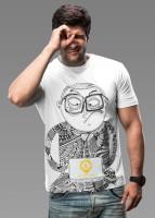 Imagica Printed Men's Round Neck White T-Shirt