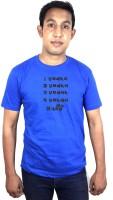 SVX Printed Men Round Neck Blue T-Shirt