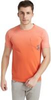Breakbounce Solid Men's Round Neck Orange T-Shirt