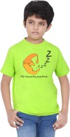 Tantra Boys Graphic Print T Shirt(Light Green, Pack of 1)