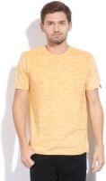 Breakbounce Solid Men's Round Neck Yellow T-Shirt