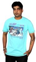 AS42 Solid Men Round Neck Light Blue T-Shirt