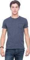 Mufti Solid Men Round Neck Grey T-Shirt