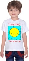 Tantra Boys Graphic Print Cotton T Shirt(White, Pack of 1)