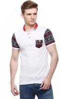 Fasnoya Embroidered Men's Polo Neck White T-Shirt