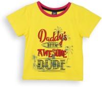 Lilliput Boys Printed T Shirt(Yellow, Pack of 1)